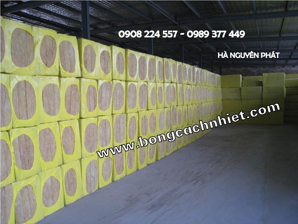 BÔNG KHOÁNG ROCKWOOL BẢO ÔN TẤM DÀY 50mm, 75mm, 100mm