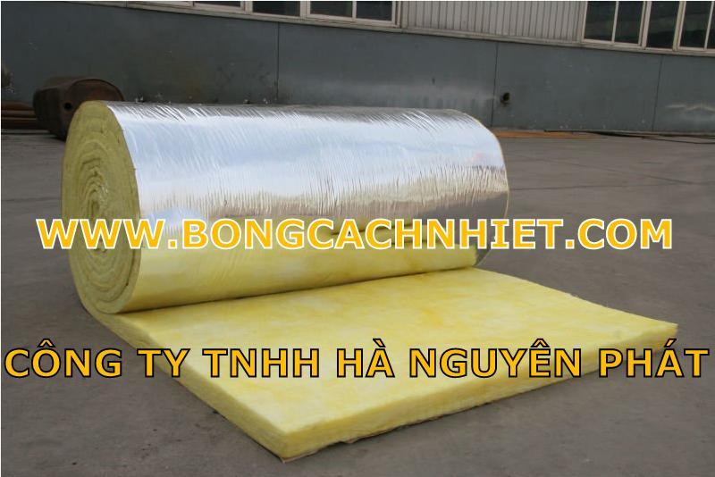 TIÊU ÂM BÔNG THỦY TINH DÀY 25MM TỶ TRỌNG 32KG/M3