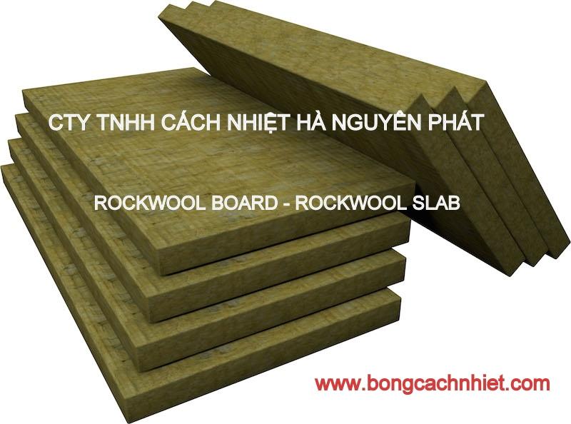 rockwool tấm dày 25mm bông sợi khoáng cách âm cách nhiệt