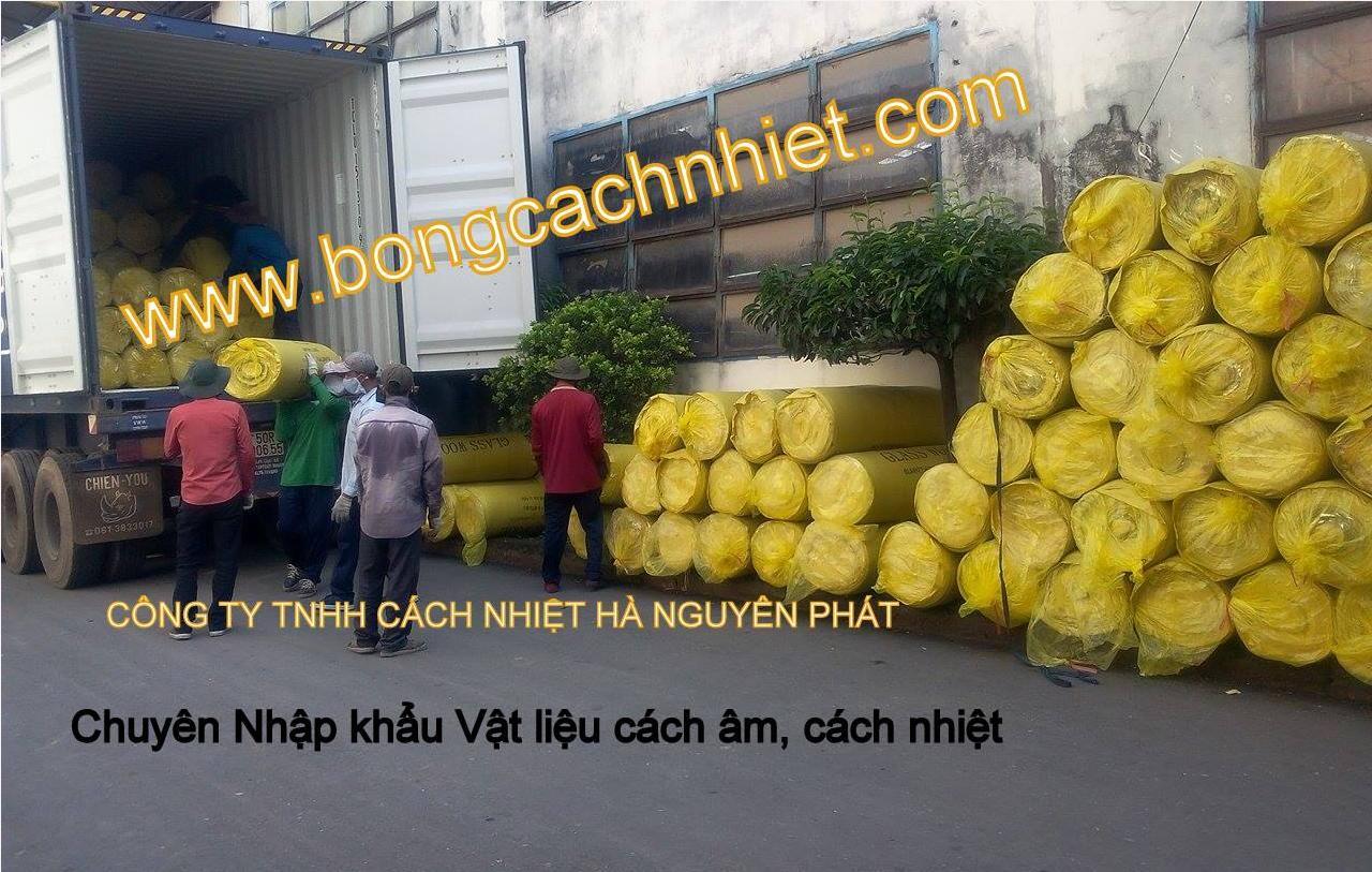 BÔNG  THỦY TINH TRÁNG BẠC TỶ TRỌNG 24KG, 32, 48KG/M3
